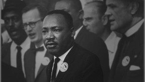 Image of Dr. Martin Luther King Jr. speaking
