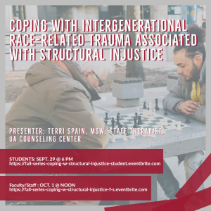 Coping with Intergenerational Race-Related Trauma flyer