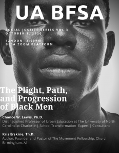 Flyer on plight and path of black men