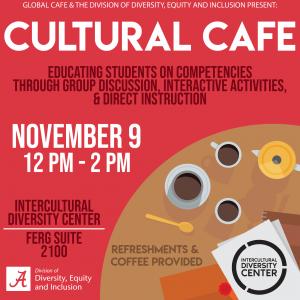 Cultural Cafe Nov. 9 at noon