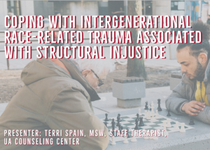 flyer for Intergenerational race-related trauma