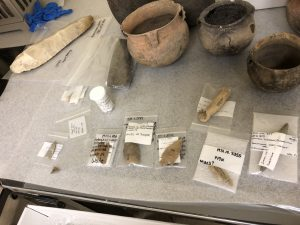 Native American tools excavated at Moundville