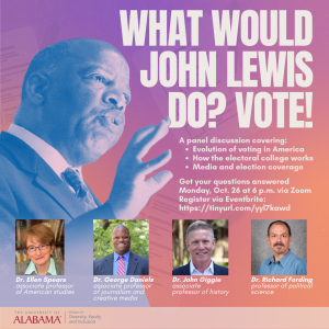 flyer promoting voter education event