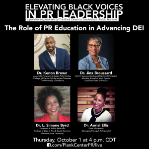 flyer for elevating black voice in PR leadership