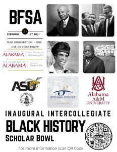 Black Hstory Month Scholar Bowl poster