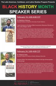 Latin American, Caribbean and Latinx Studies Program speaker series poster
