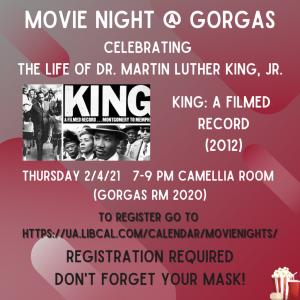 UA Libraries Movie Night at Gorgas