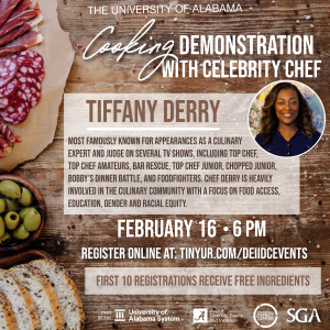 Demonstration with celebrity chef Tiffany Derry