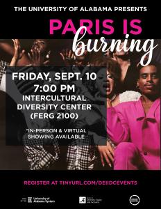 Paris is Burning movie flyer