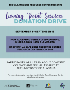 Turning Point Services donation drive information