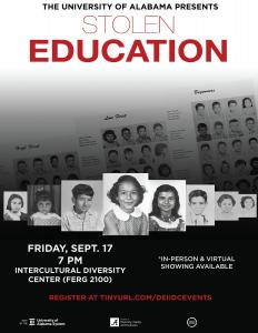 Stolen Education movie flyer