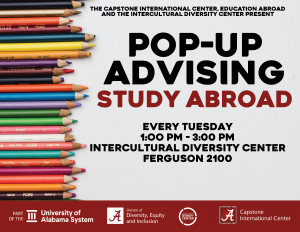 Education Abroad pop-up advising opportunities
