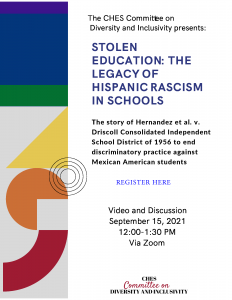 """Flyer promoting """"Stolen Education"""" viewing and discussion"""