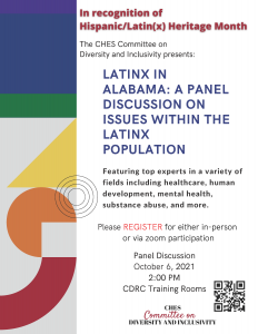 Latinx in Alabama: Panel Discussion on Issues within the Latinx Population